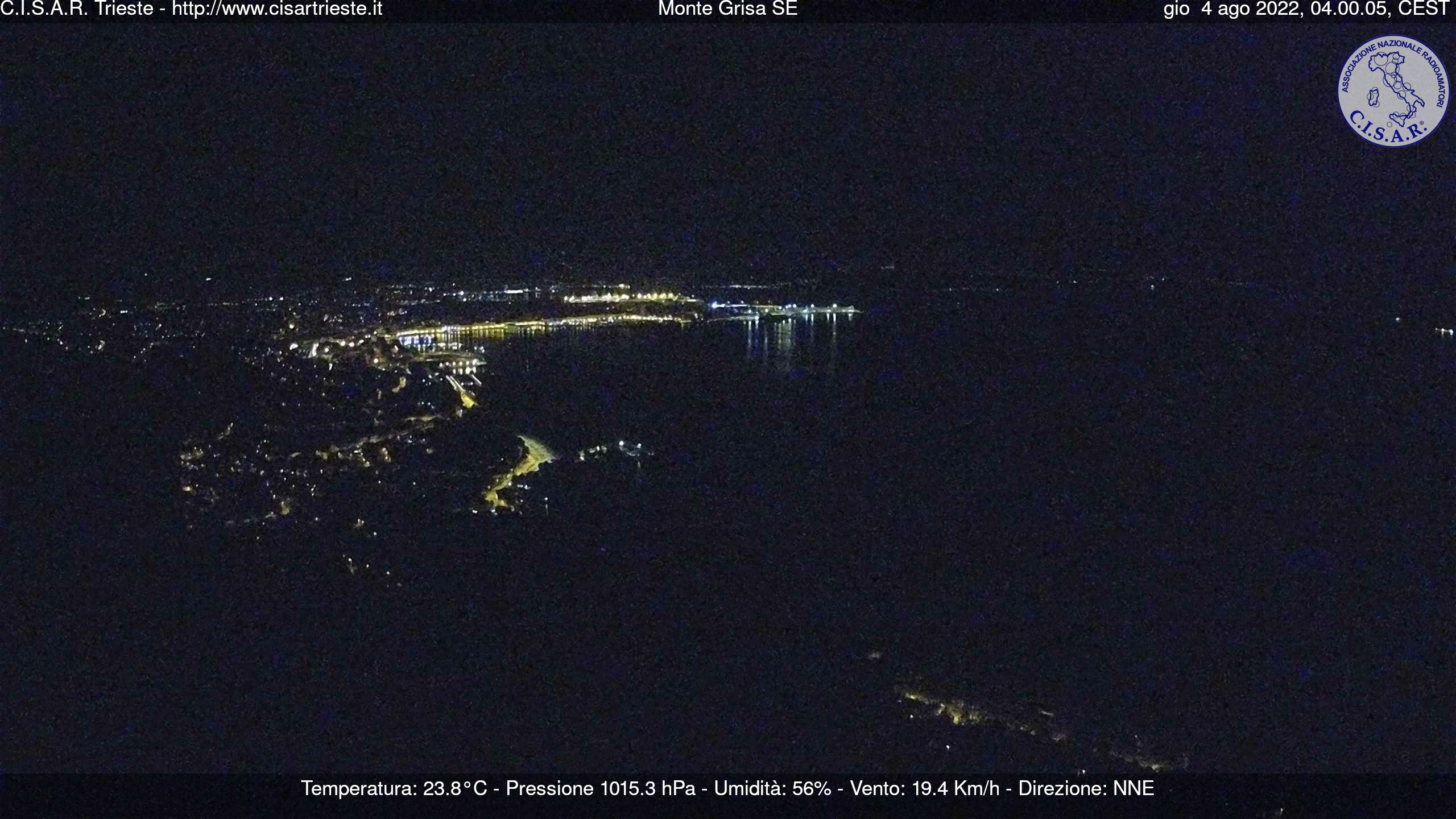 Webcam Trieste Grisa