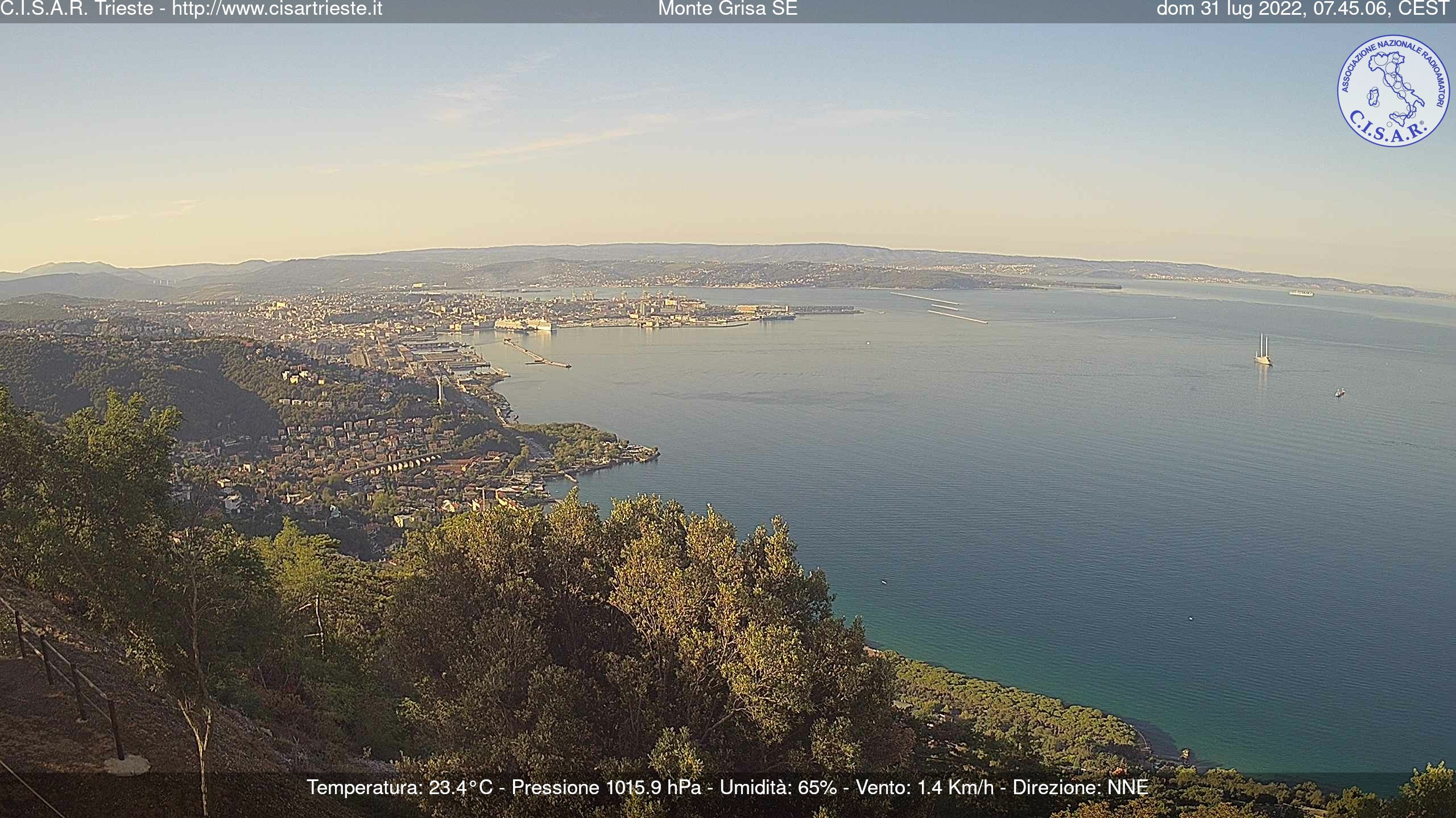 Webcam Trieste Panorama del Golfo